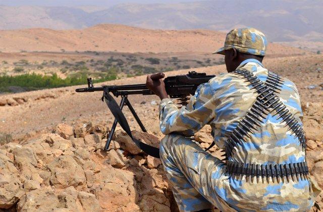 Un soldado de la región somalí de Puntlandia