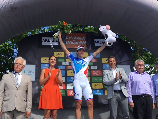 Arnaud Demare, ganador de la segunda etapa del Dauphiné Liberé