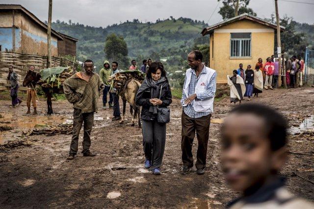Laura Restrepo en sus viajes con MSF