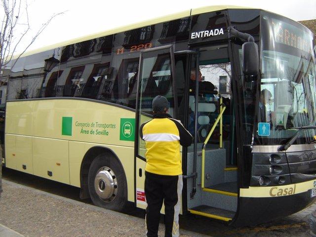 Autobuses del Consorcio Metropolitano.