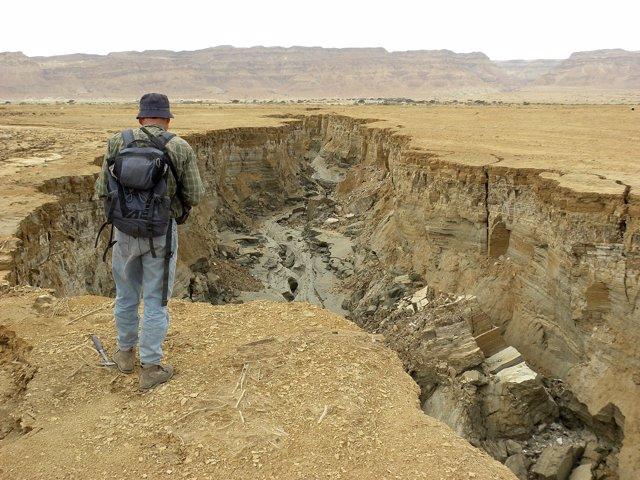 Erosión en el Mar Muerto