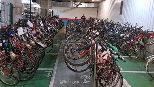 Exposición de bicicletas robadas
