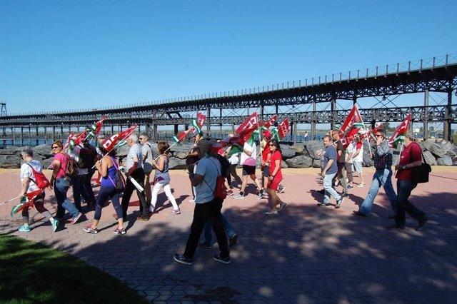 Marcha de CCOO de Huelva por el Día Mundial del Medio Ambiente.