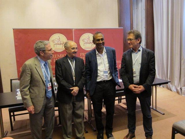 Cuatro de los Nobel que han comparecido en Valencia