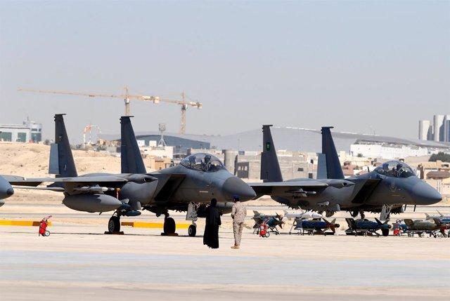 Cazas F-15SA saudíes en Riad