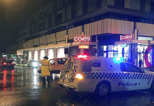 Policías en Melbourne, Australia
