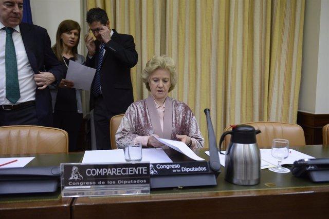 Comparecencia en el Congreso de la Defensora del Pueblo, Soledad Becerril