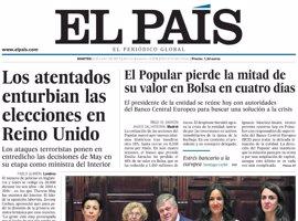 Las portadas de los periódicos de hoy, martes 6 de junio de 2017