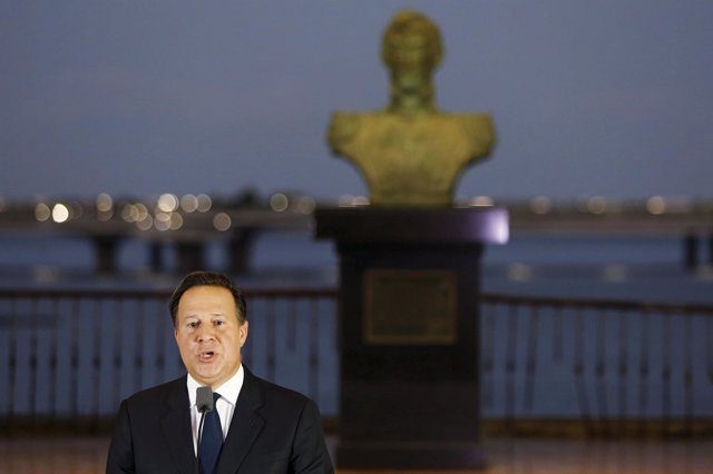 El presidente de Panamá, Juan Carlos Varela