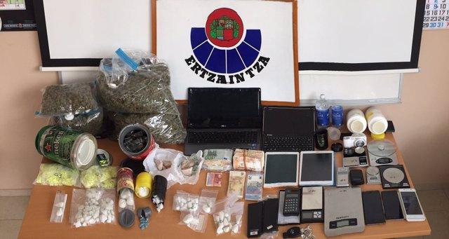 Sustancias estupefacientes incautadas en Eibar
