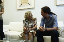 """Pablo Iglesias se """"esforzará"""" para que Carmena repita en Madrid y apuesta por Errejón en la Comunidad"""