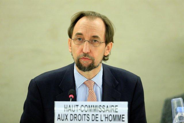 El Alto Comisionado de la ONU para los Derechos Humanos, Zeid Raad Al Hussein.