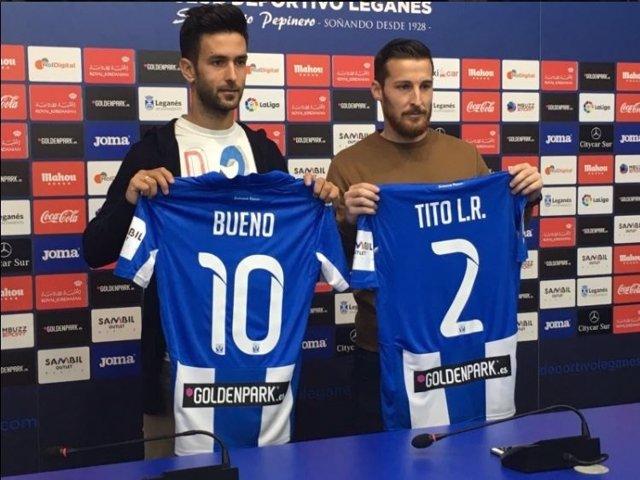 Alberto Bueno y Tito, jugadores del Leganés