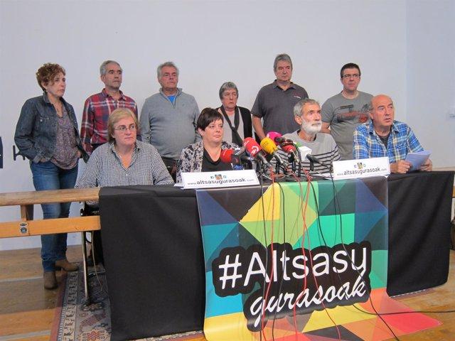 Padres y madres de los detenidos por la agresión en Alsasua