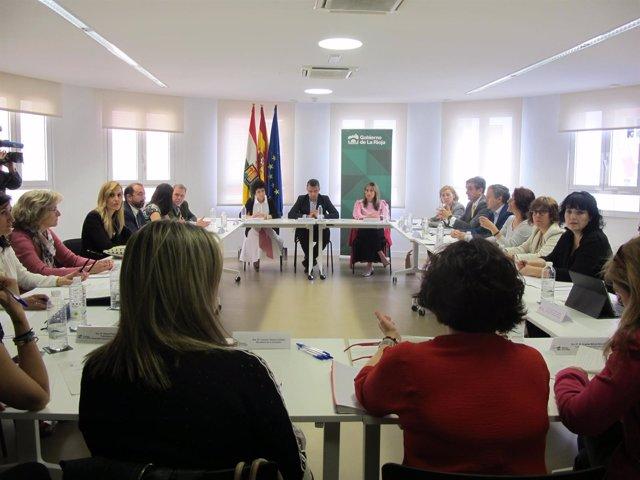 Imagen de la reunión de la Comisión