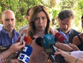 """Susana Díaz garantiza que el Gobierno andaluz está """"en el tajo"""""""