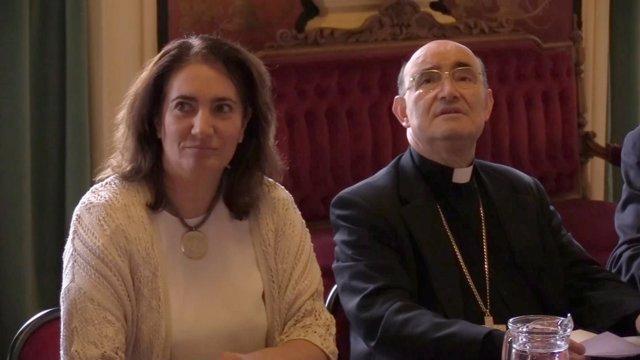 María Josefa García Cirac y Fidel Herráez.