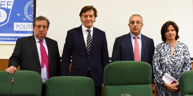 José Ramón Lete (CSD), Alejandro Blanco (COE) y Alberto Palomar