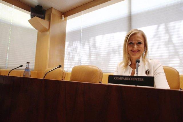Cristina Cifuentes comparece en la comisión sobre corrupción