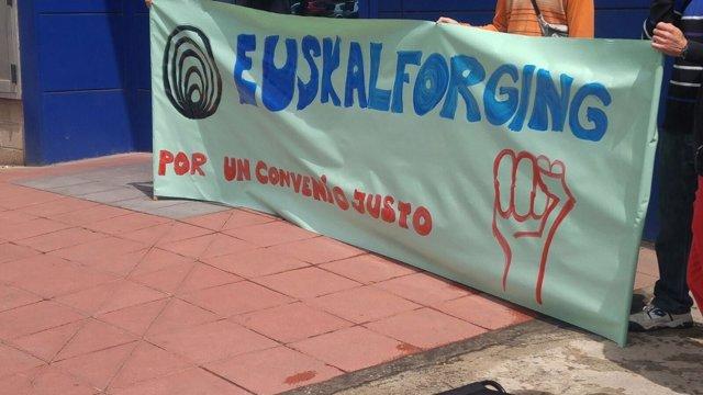 Huelga de los trabajadores de Euskalforging