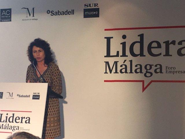 La secretaria de Estado de  Turismo Matilde Asián málaga foro turismo