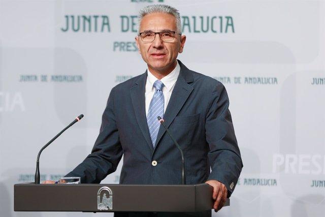 El  portavoz del Gobierno de la Junta de Andalucía, Miguel Ángel Vázquez