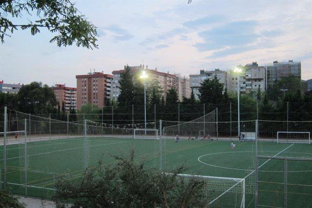 Campo de futbol, Barcelona, Canyelles
