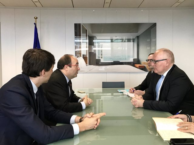 Javi López, Miquel Iceta (PSC) vicepte.Primero Comisión Europea Frans Timmermans