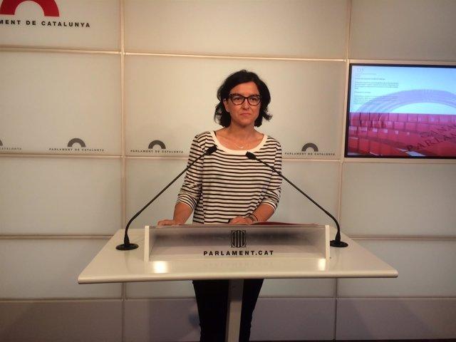 La portavoz del PSC Eva Granados