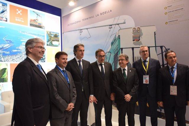 Personalidades políticas y representantes del Port de Tarragona en el SIL