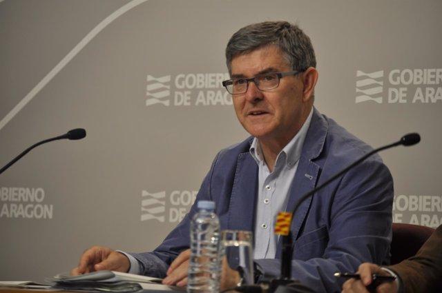 El consejero de Presidencia del Gobierno de Aragón, Vicente Guillén.