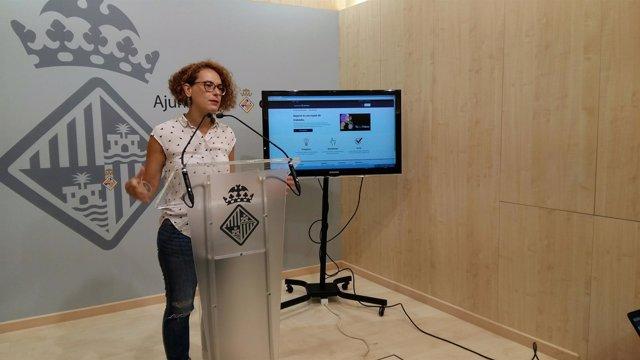 Eva Frade presenta la página web tufaspalma.Cat
