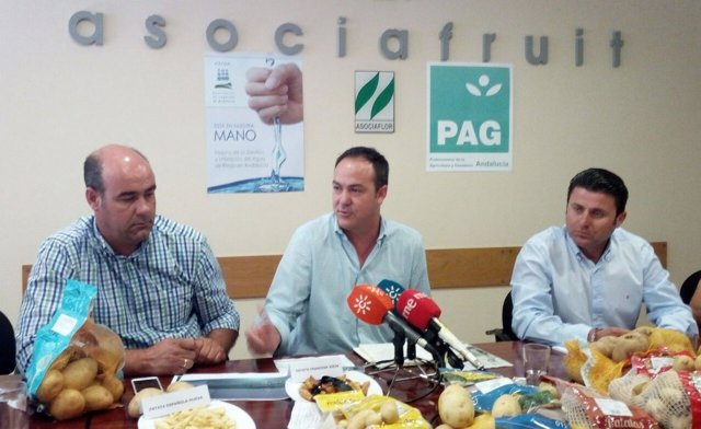 Representantes de Asociafruit,PAG Sevilla y Areda en rueda de prensa