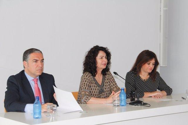 Elías Bendodo, Matilde Asián y Marga del Cid Mancomunidad gobierno convenio acue