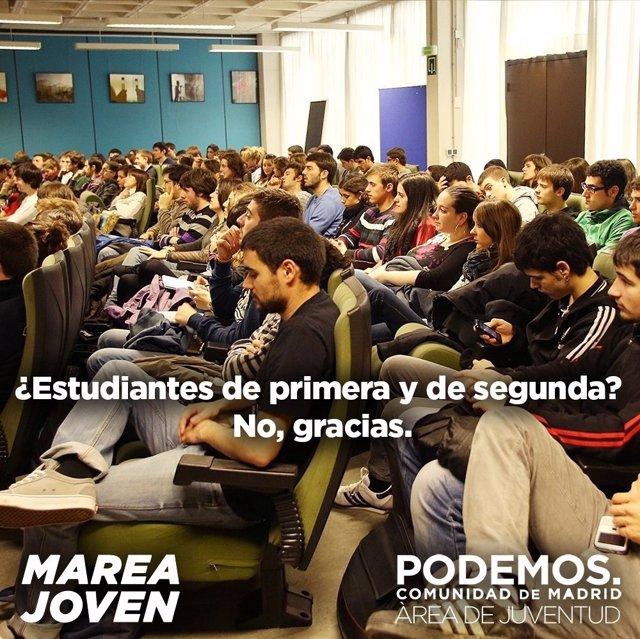 Imagen de Podemos en la Comunidad de Madrid