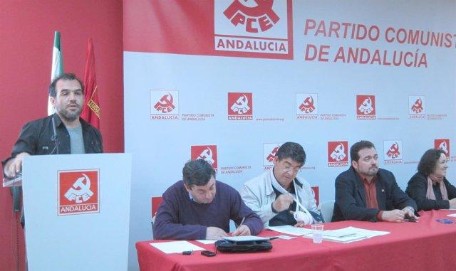 Mariscal, Junto A Centella Y Valderas, Interviene En El Comité Central Del PCA
