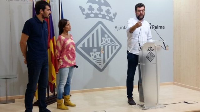 Antoni Noguera en rueda de prensa en el Ayuntamiento