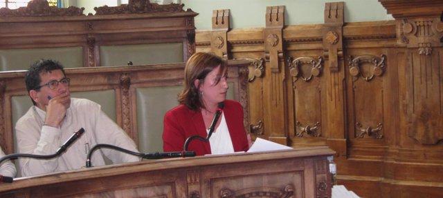 La concejal María Sánchez interviene en el Pleno de Valladolid