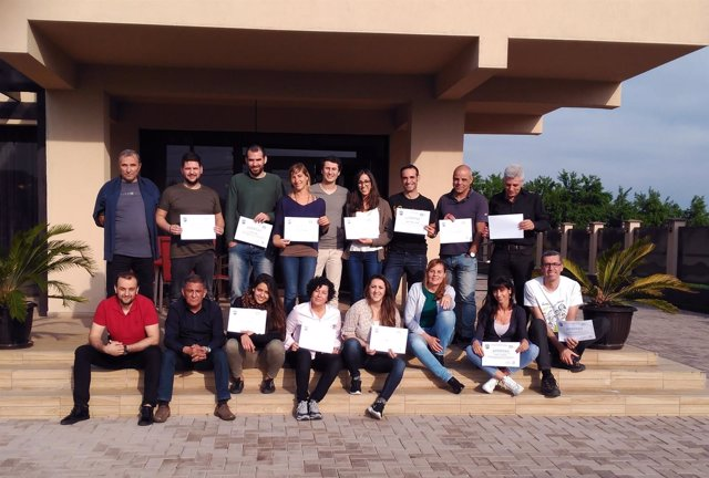 Grupo de empresarios y emprendedores catalanes que han viajado a Rumanía