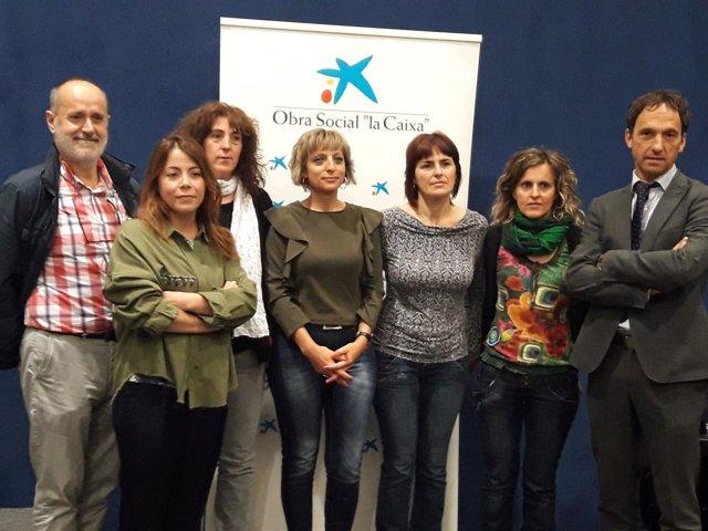 Presentación del programa de Antox apoyada por La Caixa en Alsasua.