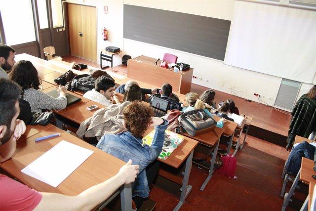Universidad, Estudiantes, Clases, Libros, Profesora, Lorenzana, pizarra
