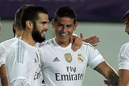 Nacho y James con el Real Madrid