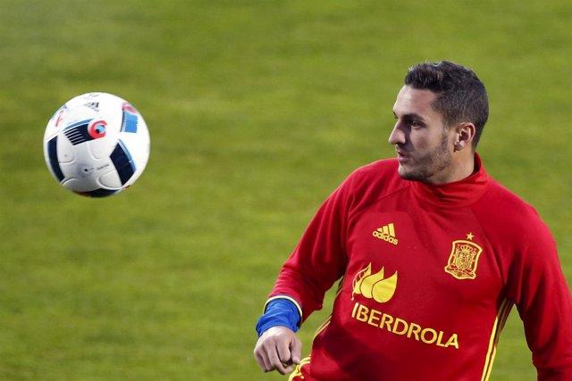 Koke, con la selección española