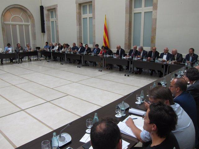 El Govern en la reunión del Pacte pel Referèndum