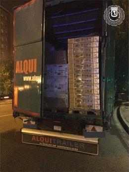 Imagen del camión recuperado