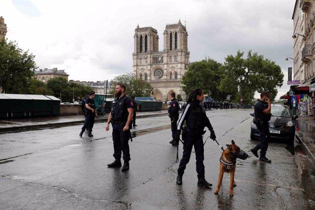 Un hombre es abatido por la policía en Notre Dame, París