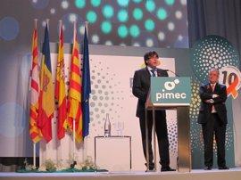 """Puigdemont: """"Si alguien de fuera quiere saber qué piensan nuestros empresarios, que pregunten a las pymes"""""""