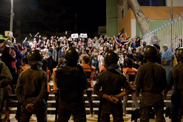 Manifestación en Alhucemas