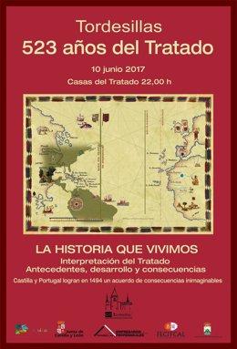 Cartel del Tratado de Tordesillas.