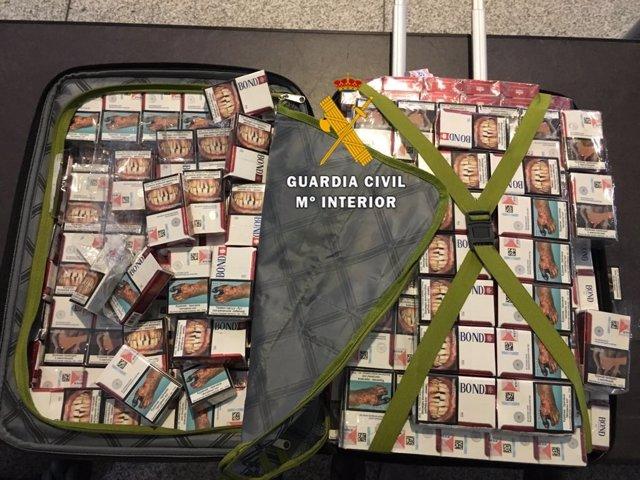Tabaco intervenido en el aeropuerto de Málaga